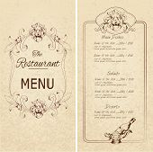 Restaurant menu template ?