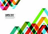 picture of color geometric shape  - Abstract Colorful Triangle Pattern - JPG