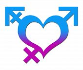 Third Gender Heart Blue Pink