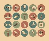 Working Tools Flat Icon Set
