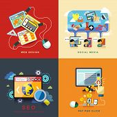 Flat Web Design, Seo, Social Media, Pay Per Click