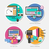 Set Of Flat Design Concept Vector Illustration