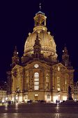 Frauenkirche church of Dresden by night