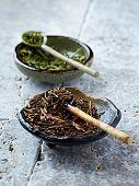 Kukicha Twig Tea. Japanese Green Tea made of Stems, Stalks and Twigs.