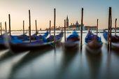 Grand Canal Embankment And San Giorgio Maggiore Church At Dawn, Venice, Italy