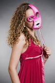 Pretty Woman In Pink Mask