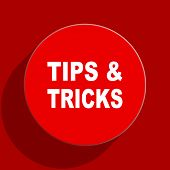 tips tricks web flat icon