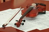 Violin and notes