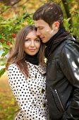 Young Beautiful Couple At Fall