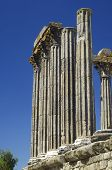 Ruins  of the Roman temple of Diana in Evora, Portugal