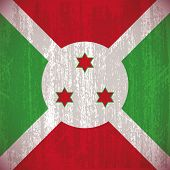 foto of burundi  - Abstract Burundi flag with special dirty effect - JPG