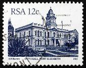 Postage Stamp South Africa 1985 Port Elizabeth City Hall