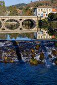 Ancient bridge and village of Arcos de Valdevez, in Minho, Portugal