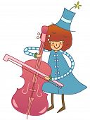 lovely girl playing cello