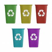 Paper Cut Of Recycle Bin Is Can Recycling To Garbage For Environmental Conservation Symbol