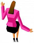 businesswoman handsup
