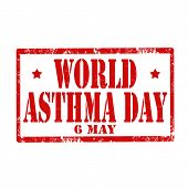 World Asthma Day-stamp