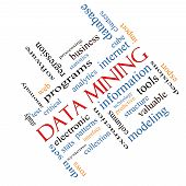 Data Mining Word Cloud Concept Angled