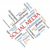 Social Media Word Cloud Concept Angled