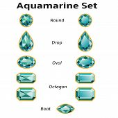 Aquamarine Set With Text