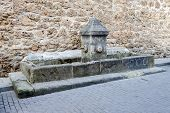 Old Fountain And Drinking Trough In Burgo De Osma
