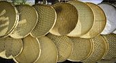 image of threshing  - The handmade threshing basket made from bamboo - JPG
