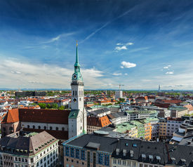 foto of munich residence  - Aerial view of Munich and St - JPG