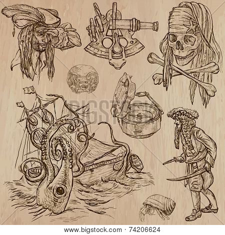 Pirates no7 An Hand Drawn