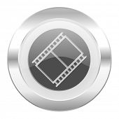 film chrome web icon isolated
