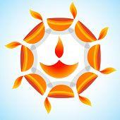 Vector stylish background of diwali