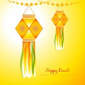 Vector illustration of happy diwali background