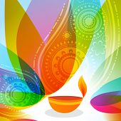 Vector colorful background of diwali