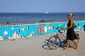 Sea Promenade In Gdynia City, Baltic Sea, Poland