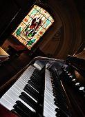 An Old Pipe Organ Keyboard