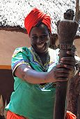 Smiling African Woman, South Africa