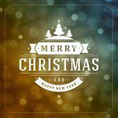 Christmas light vector background. Card or invitation.