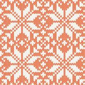 seamless pattern. knitted ornament