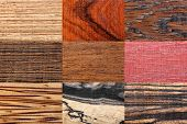 Wood backgrounds set - abstract wooden retro texture