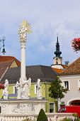 Statue at Tulln Austria - architecture background