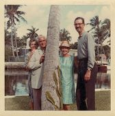 USA- CIRCA 1950s: Vintage photo shows family on vacation.