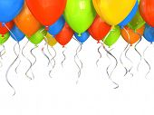 Party balloons background 3D