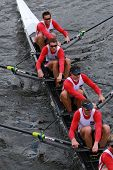 French Rowing races in the Head of Charles Regatta Men's Championship Eights