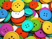 Multicolored buttons for clothing 3D rendering