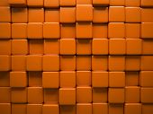 Abstract pattern of  square orange pieces illustration