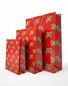 Christmas carrier paper bags isolated on white background illustration