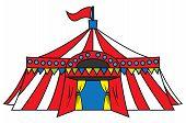 stock photo of circus tent  - circus tent Editable  - JPG