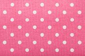 image of poka dot  - background of pink kitchen towel with poka dots - JPG