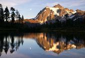 Mount Mt. Shuksan High Peak Picture Lake North Cascades