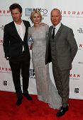 NEW YORK-OCT 11: (L-R) Ed Norton, Michael Keaton and Naomi Watts attend the 'Birdman Or The Unexpected Virtue Of Ignorance' premiere at the New York Film Festival on October 11, 2014 in New York City.