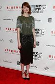NEW YORK-OCT 11: Actress Emma Stone attends the Closing Night Gala Presentation of 'Birdman Or The Unexpected Virtue Of Ignorance' at the New York Film Festival on October 11, 2014 in New York City.